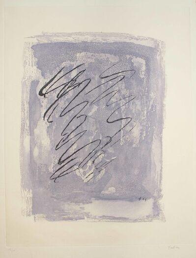 Jean Fautrier, 'Griffure sur fond violet', 1963