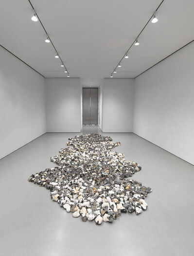 Richard Long, 'Meandering Flint Line ', 2020