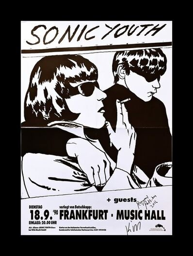 Raymond Pettibon, 'Sonic Youth at Frankfurt Music Hall (Hand Signed by both Raymond Pettibon and Kim Gordon)', 1990-2016