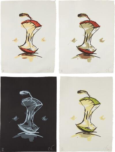 Claes Oldenburg, 'Apple Core - Summer; Apple Core - Autumn; Apple Core - Winter; and Apple Core - Spring', 1990