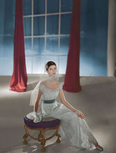 Horst P. Horst, 'Carmen Dell'Orefice, Dress by Hattie Carnegie', 1947