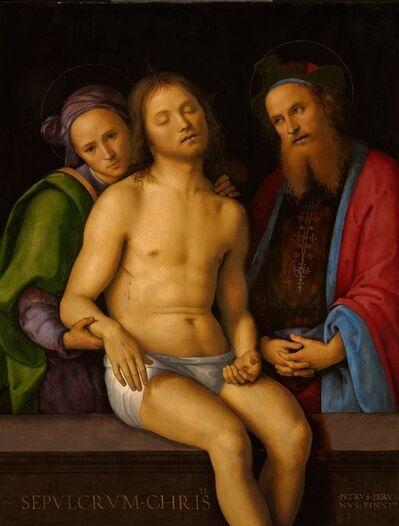 Pietro Perugino, 'Dead Christ with Joseph of Arimathea and Nicodemus (Sepulcrum Christi)', 1494-1498