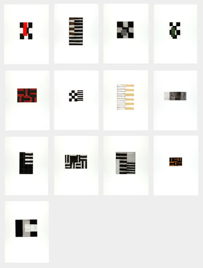 Sean Scully, 'Pomes Penyeach (to the poems by James Joyce) ', 1993