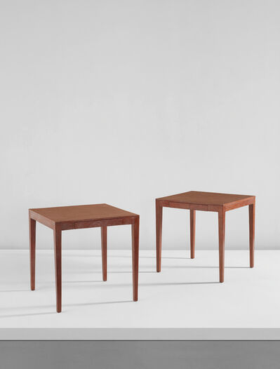 Jean-Michel Frank, 'Pair of occasional tables, from the École de Puériculture, Paris', 1920s