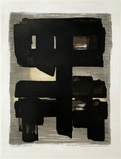 Pierre Soulages, 'Lithographie n° 1', 1957