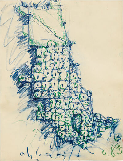 Claes Oldenburg, 'Map of Chicago Stuffed with Soft Numbers', 1963
