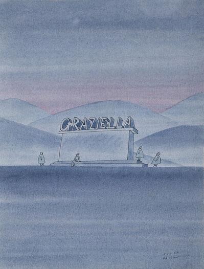 Jean Michel Folon, 'Graziella', 1967