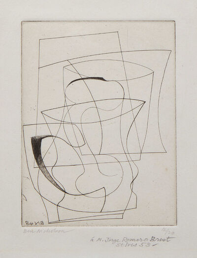 Ben Nicholson, 'Jug and Glass', 1948