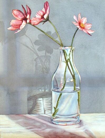"""Kathrine Lemke Waste, '""""Three Cosmos: A Meditation in Pink and Gray""""'"""