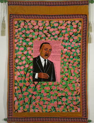 Faith Ringgold, 'Coming to Jones Road Tanka #3 Martin Luther King', 2010