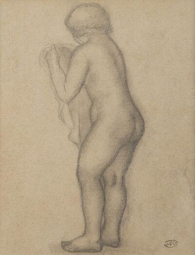 Aristide Maillol, 'Nu debout tourné vers la gauche tenant un voile', Unknown