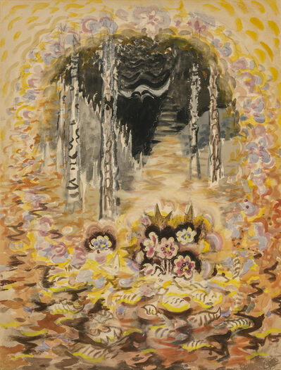 Charles Ephraim Burchfield, 'The Fragrance of Spring (Bee Hepaticas)', ca. 1962