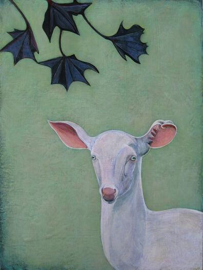 "Phyllis Stapler, '""Lavender Deer""', 2015"