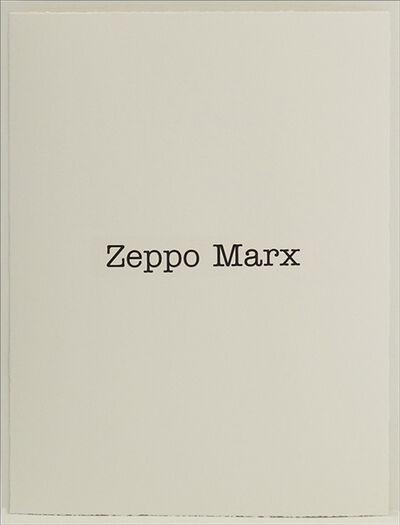 Simon Patterson, 'Zeppo Marx', 2018