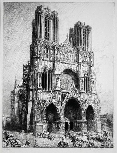 Auguste Lepère, 'Cathedral at Reims', 1911