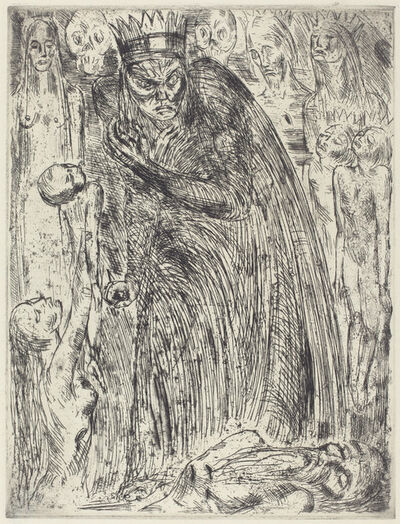 Wilhelm Lehmbruck, 'Macbeth V (The Vision of Lady Macbeth)', 1918