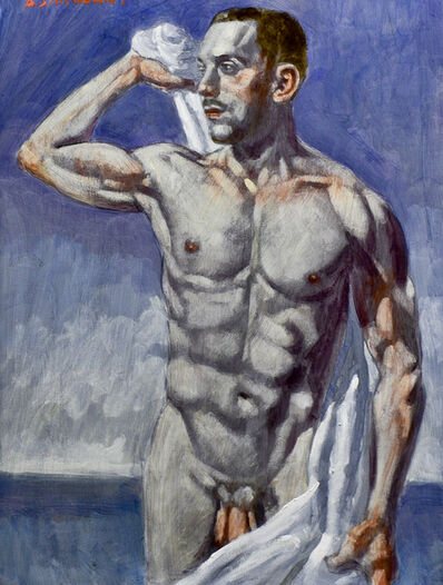 Mark Beard, 'Man Drying Himself with Towel', date unknown