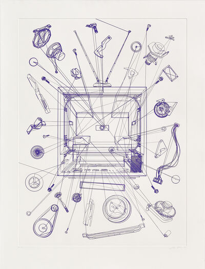 Analía Saban, 'Combo Television Unit (One Continuous Line)', 2016