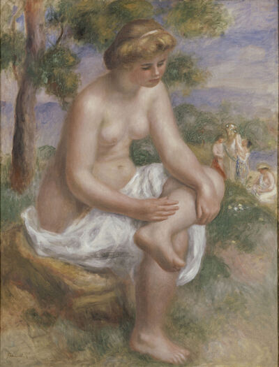 Pierre-Auguste Renoir, 'Bather Seated in a Landscape, Called Eurydice', 1902–4