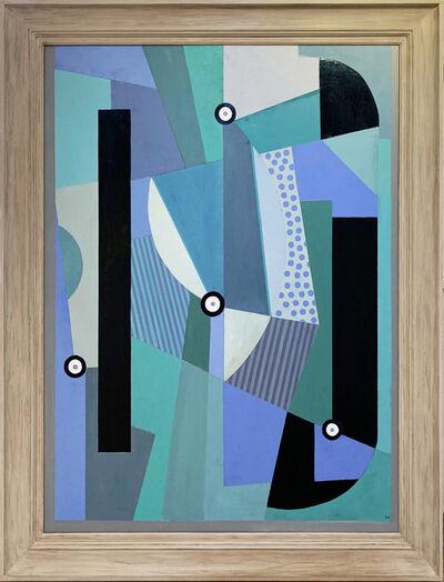 Tim Woolcock, 'Blue & Turquoise Amalgan', 2019