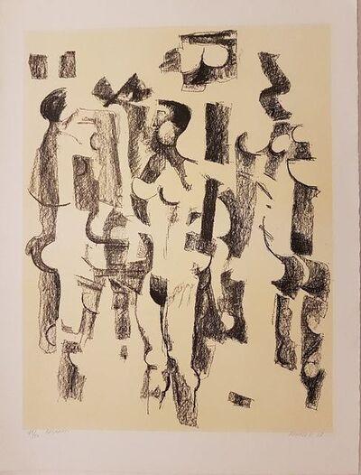 Fausto Pirandello, 'Bagnanti', 1967