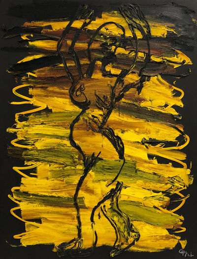 Karel Appel, 'Nude Figure in Yellow', 1989