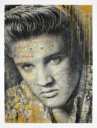 Mr. Brainwash, 'King of Rock (Gold)', 2017