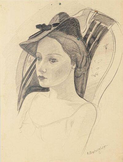 Cesare Breveglieri, 'Woman with a Hat', 1930's
