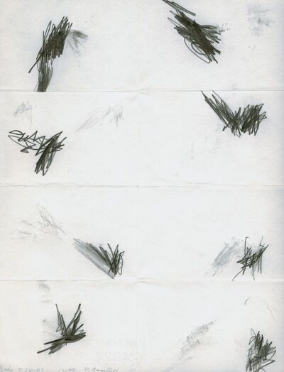 William Anastasi, 'Without Title (Pocket Drawing, Köln 4.24.02 12:48)', 2002