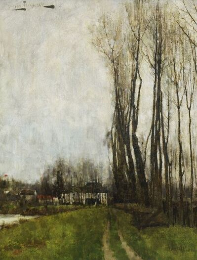 Henry Herbert La Thangue, 'French landscape'
