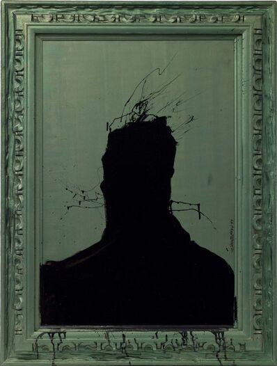Richard Hambleton, 'Shadow Head on Green', 2000