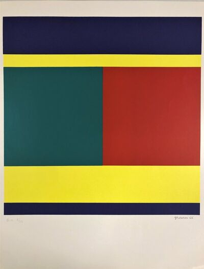Camille Graeser, 'Compositions Violet bandes', 1966