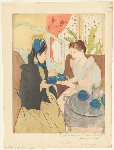 Mary Cassatt, 'Afternoon Tea Party', 1890-1891