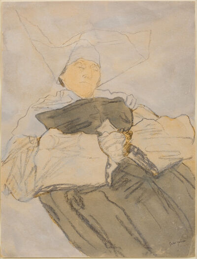 Gwen John, 'Sleeping Nun', 1916-1918