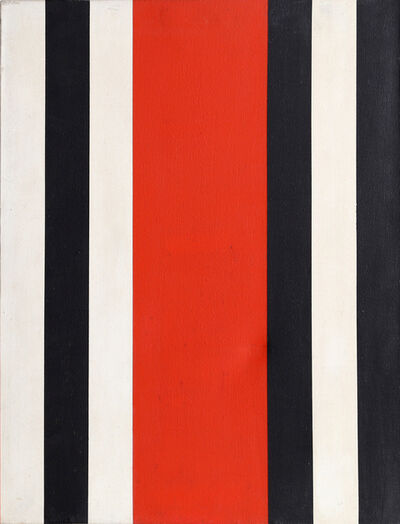 Warner Friedman, 'Red, Black and White Stripes', ca. 1965