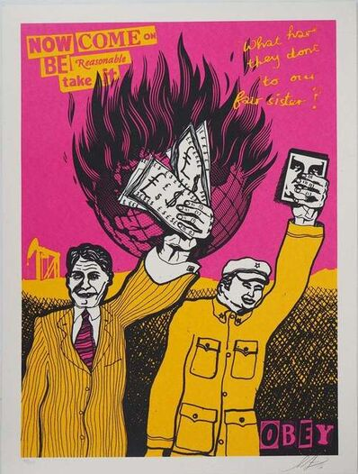 "Shepard Fairey, 'Be Reasonable / Urban Pressure Set ""Two Prints"" ', 2016"