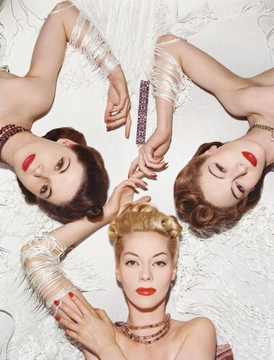 Horst P. Horst, 'Helen Bennett, Muriel Maxwell, and Bettina Bolegard, Vogue 1 November 1939', 1939