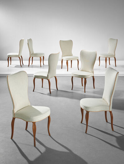 Frits Henningsen, 'Rare set of eight dining chairs, designed for a private commission, Copenhagen', 1935-1945