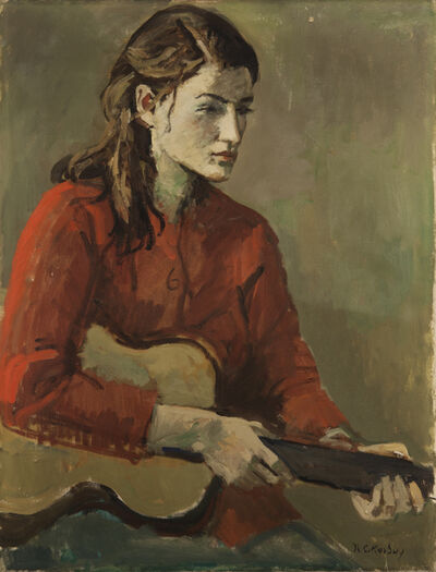 Nicolai Cikovsky, 'Girl with Guitar', 1933-1987