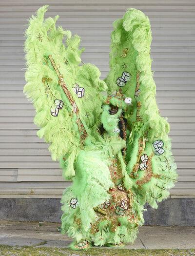 Charles Fréger, 'Mardi Gras Indians (green)', 2015