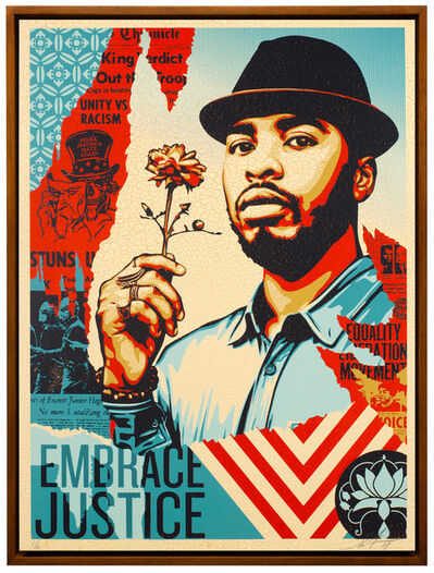 Shepard Fairey (OBEY), 'Embrace Justice', 2018
