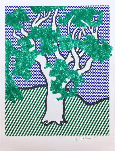Roy Lichtenstein, 'Rain Forest', 1992