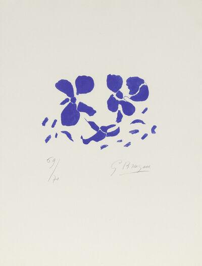 Georges Braque, 'Fleurs Bleues', 1962
