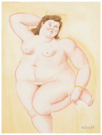 Fernando Botero, 'Untitled (Female Nude)', 1987