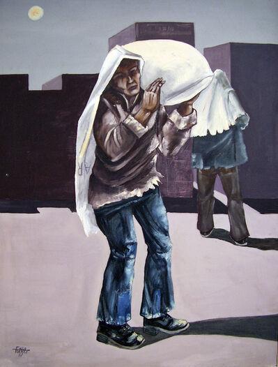 Emilio Torrez, 'Workers under the moonlight', 1971