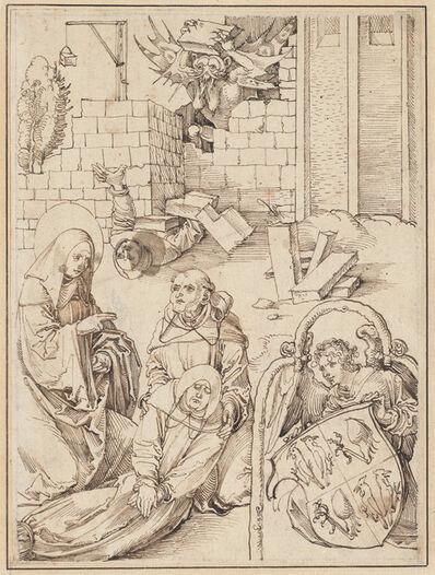 Hans Schäufelein the Elder, 'Saint Benedict Reviving a Monk Killed by the Devil', ca. 1505