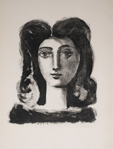 Pablo Picasso, 'Tete De Jeune Fille (Youth's Head), 1949 Limited edition Lithograph by Pablo Picasso', 1949