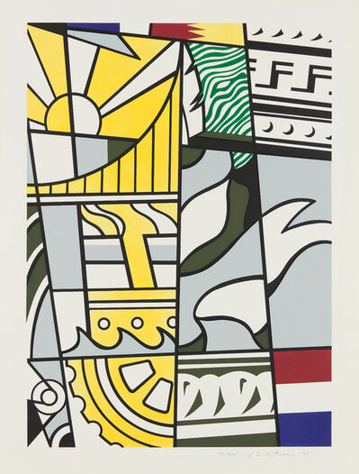 Roy Lichtenstein, 'Bicentennial Print, from America: The Third Century', 1975