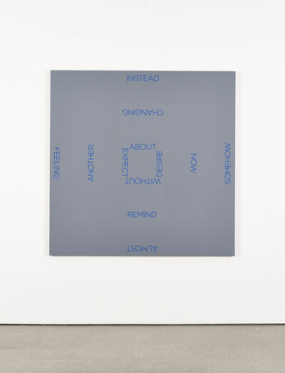 Robert Barry, 'Blue Cross', 2009
