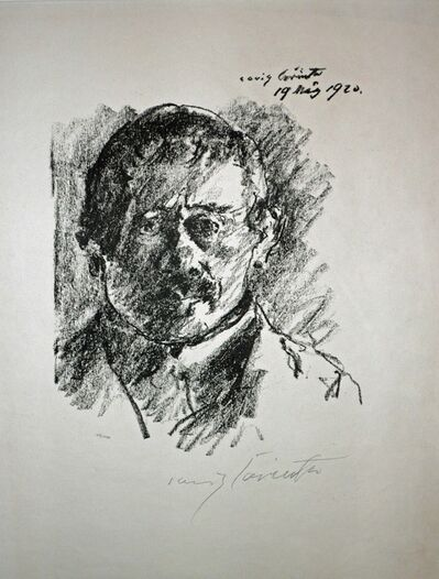 Lovis Corinth, 'SELBSTBILDNIS (Self-Portrait)', 1919